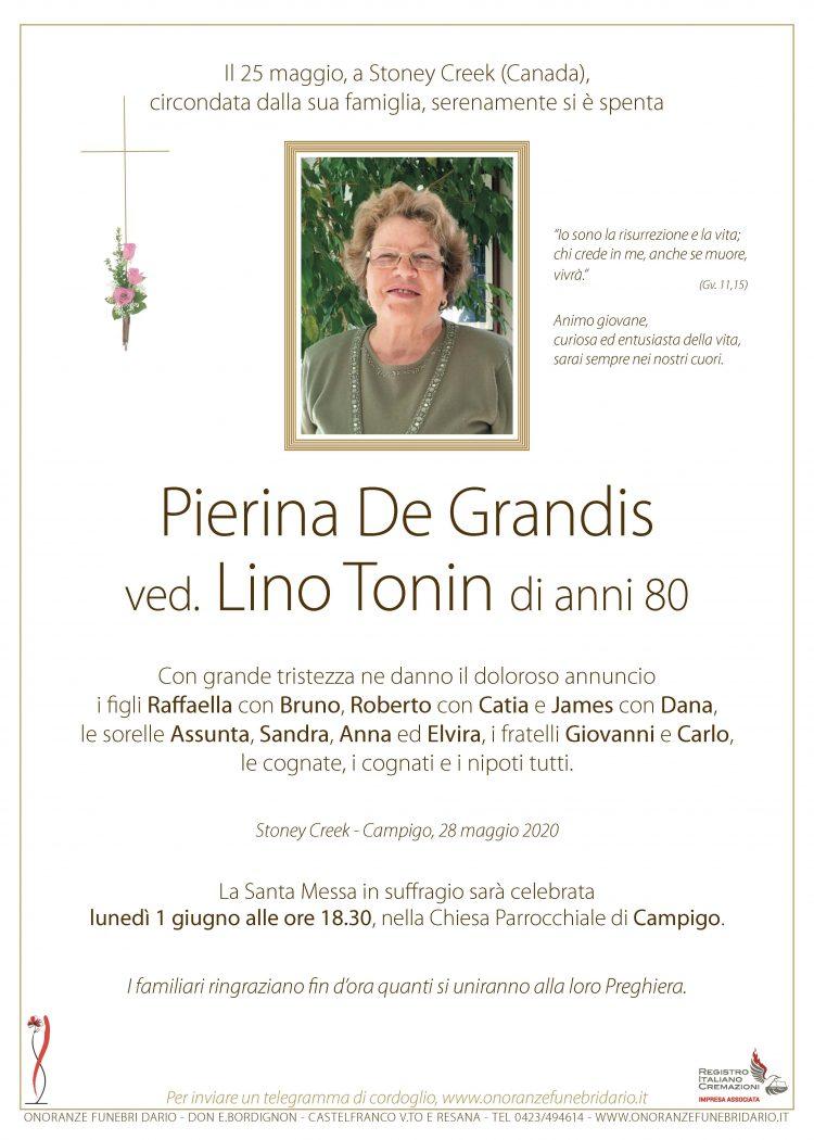 Pierina De Grandis ved. Lino Tonin