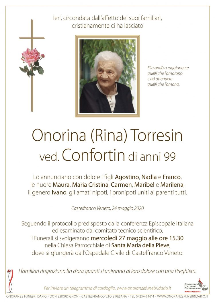 Onorina Torresin ved. Confortin