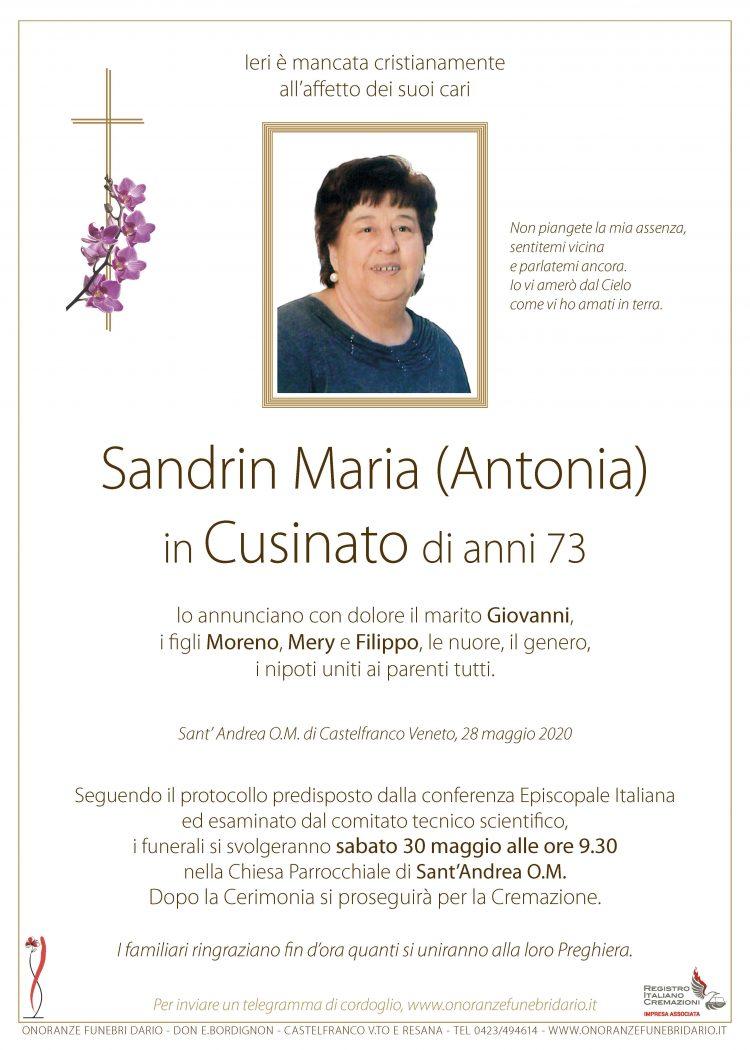 Sandrin Maria (Antonia) in Cusinato