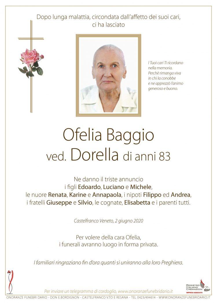 Ofelia Baggio ved. Dorella