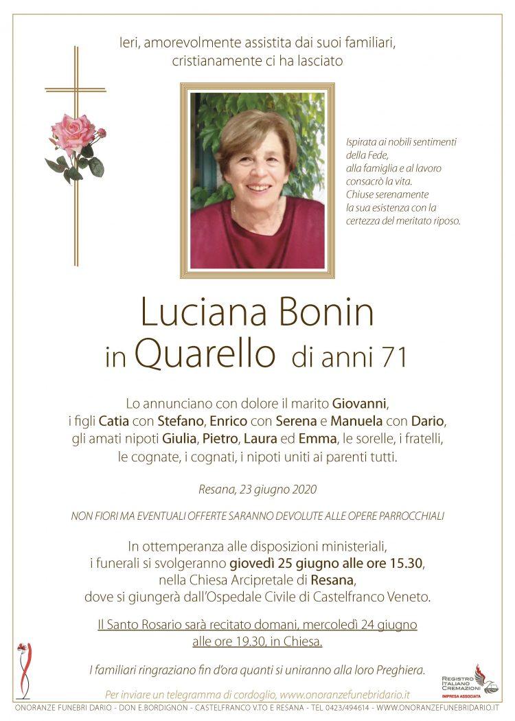 Luciana Bonin in Quarello