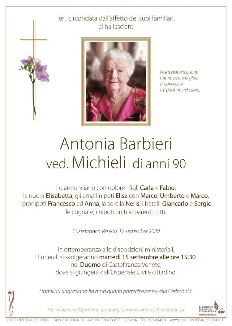 Antonia Barbieri ved. Michieli