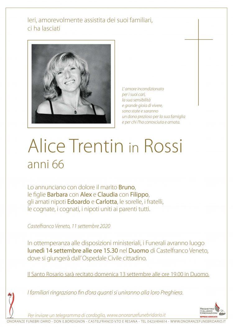 Alice Trentin in Rossi