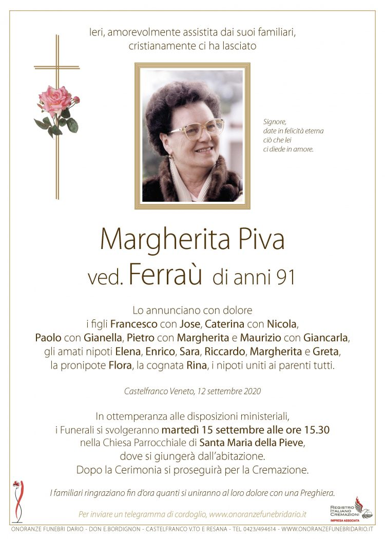 Margherita Piva ved. Ferraù
