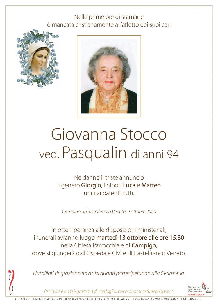 Giovanna Stocco ved. Pasqualin