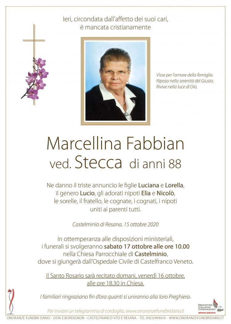 Marcellina Fabbian ved. Stecca
