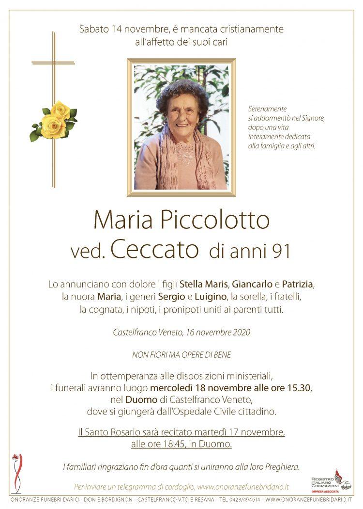 Maria Piccolotto ved. Ceccato