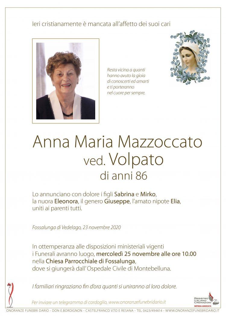 Anna Maria Mazzoccato ved. Volpato