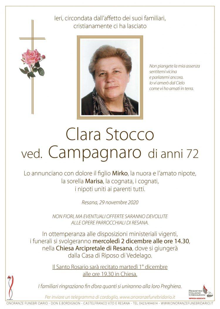 Clara Stocco ved. Campagnaro
