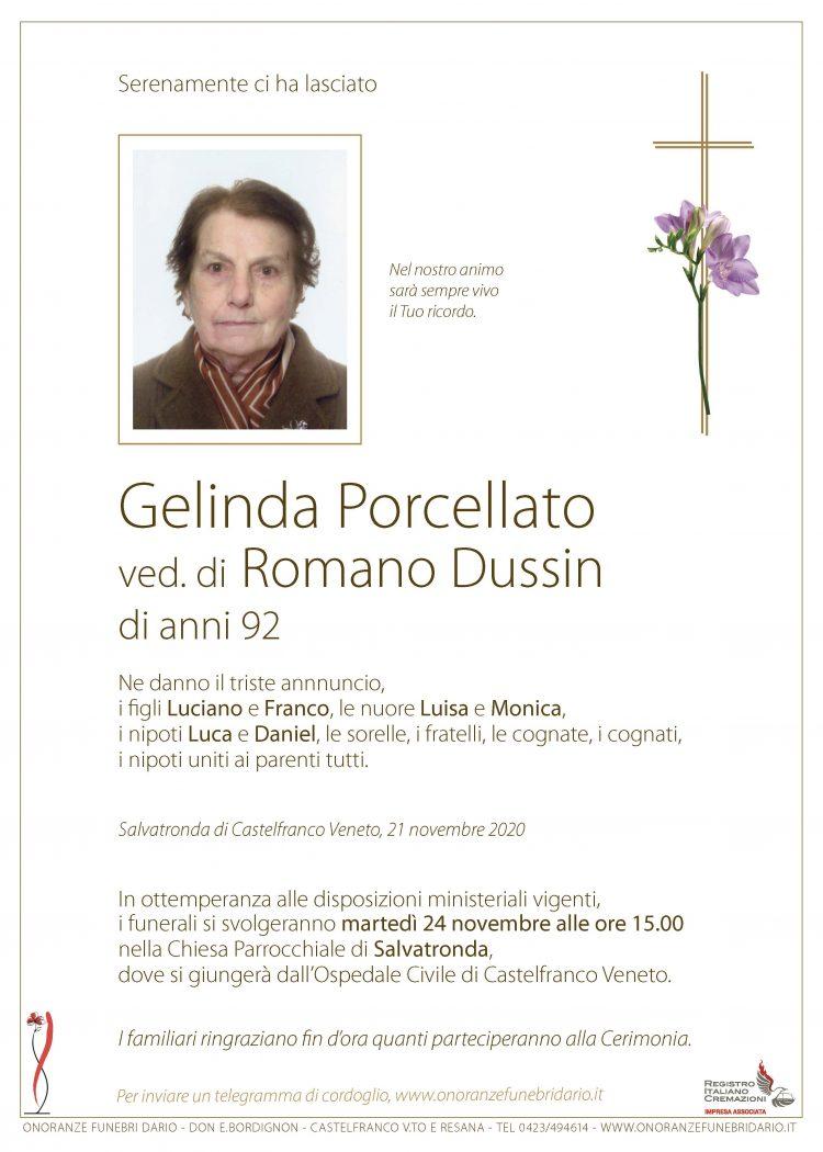 Gelinda Porcellato ved. di Romano Dussin