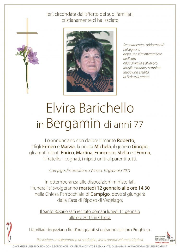 Elvira Barichello in Bergamin