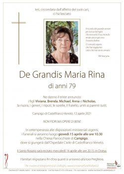 De Grandis Maria Rina