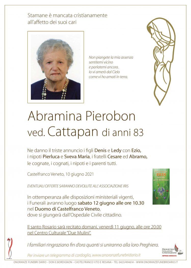 Abramina Pierobon ved. Cattapan