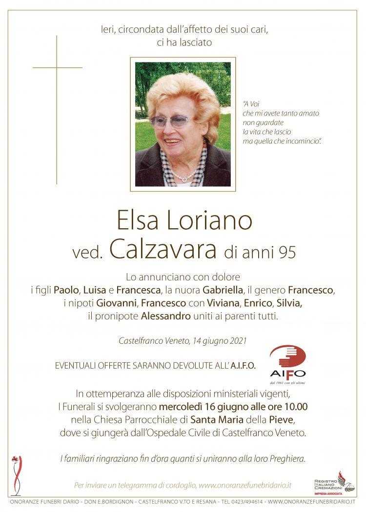 Elsa Loriano ved. Calzavara