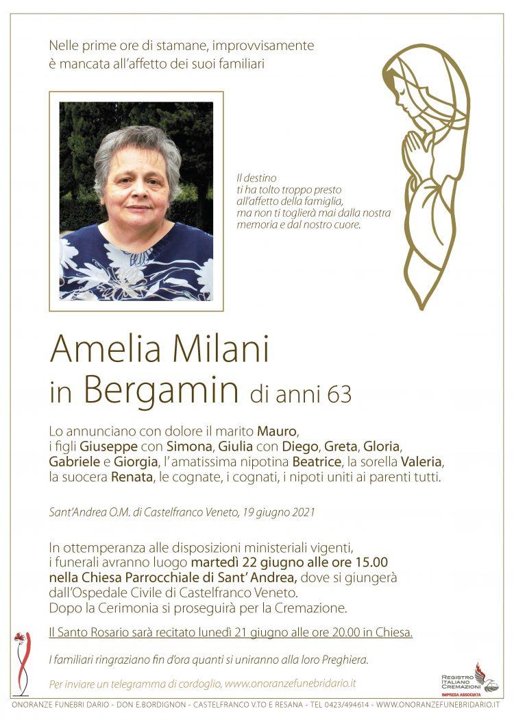 Amelia Milani in Bergamin