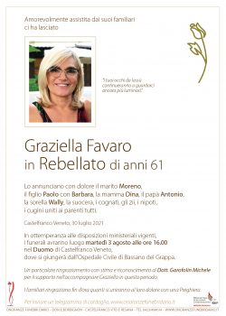 Graziella Favaro in Rebellato