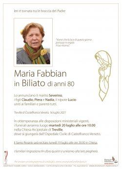 Maria Fabbian in Biliato