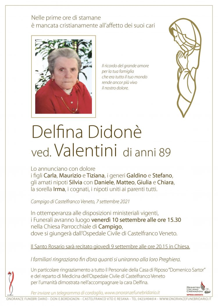 Delfina Didonè ved. Valentini