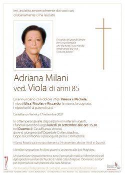 Adriana Milani ved. Viola