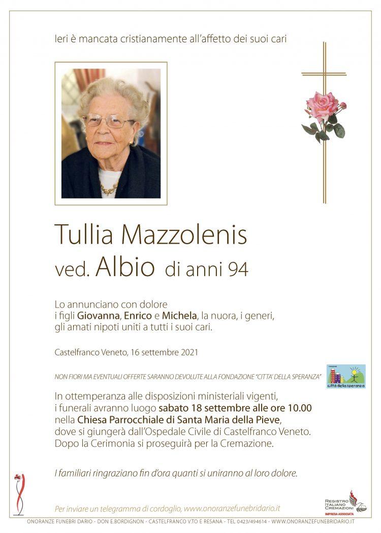 Tullia Mazzolenis ved. Albio