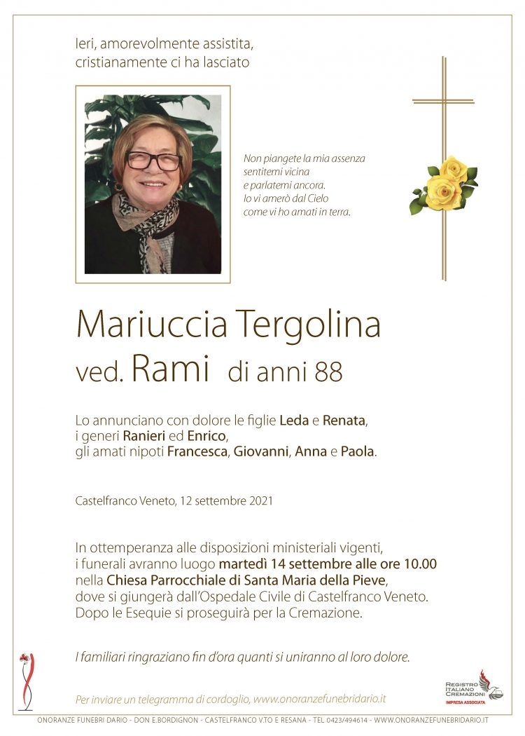 Mariuccia Tergolina ved. Rami